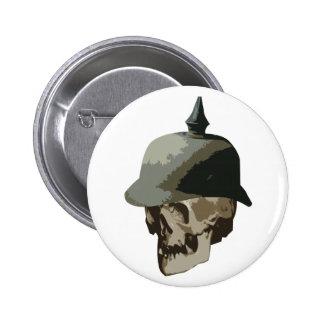 WW1入ったヘルメットおよびスカル 5.7CM 丸型バッジ