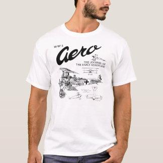 WW1航空機のフォッカーDr.1の三葉機のTシャツ Tシャツ