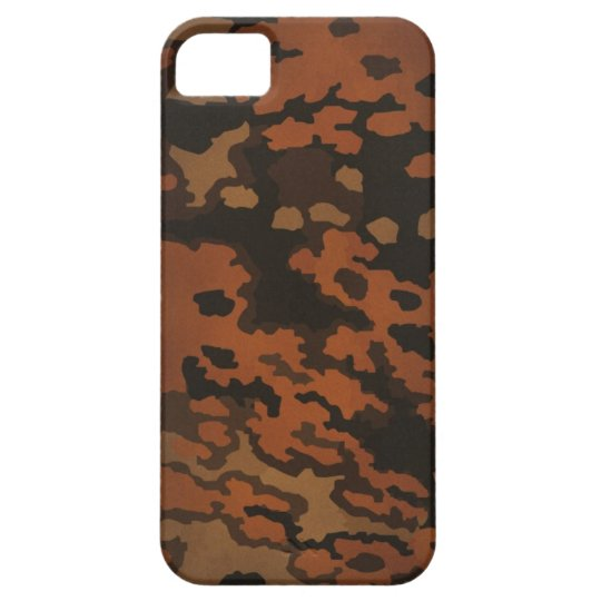 WW2 Germany forces Oak Leaf camouflage (in autumn) iPhone SE/5/5s ケース