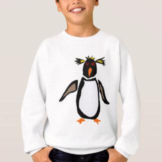 WW-おもしろいなRockhopperのペンギンの原住民の芸術 スウェットシャツ