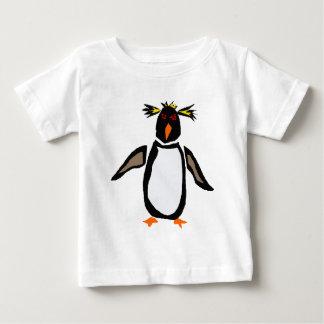 WW-おもしろいなRockhopperのペンギンの原住民の芸術 ベビーTシャツ