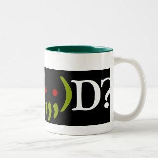 WW (; 、;) Dか。 Cthulhuのコーヒー・マグ ツートーンマグカップ