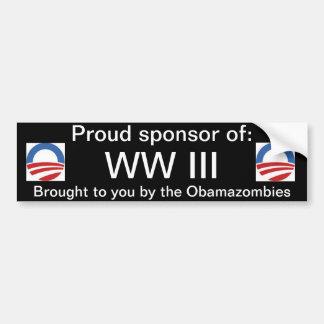 WW IIIの誇り高いスポンサー バンパーステッカー