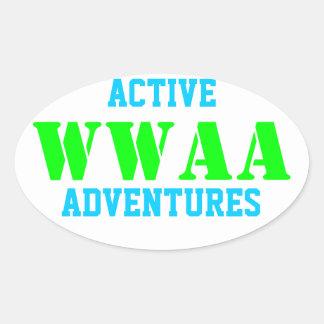 WWAA 楕円形シール
