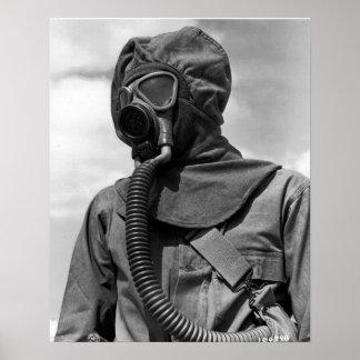 WWIIの化学薬品のスーツ ポスター
