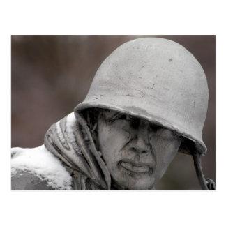 WWIIの退役軍人の彫像 ポストカード
