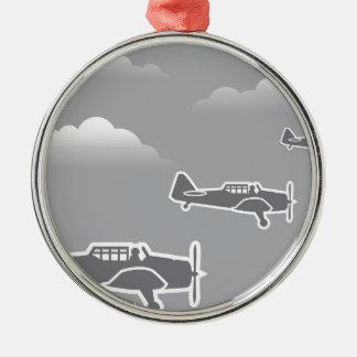 WWIIの飛行機 メタルオーナメント