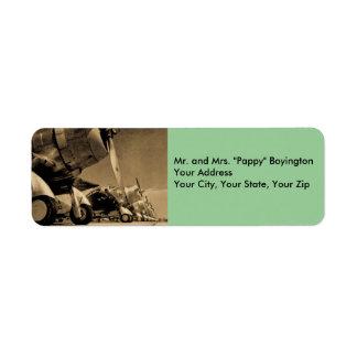 WWIIダグラスSBD Dauntlessesの戦闘機 返信用宛名ラベル