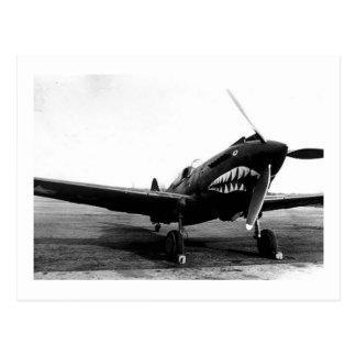 WWIIフライング・タイガースCurtiss P-40の戦闘機 ポストカード