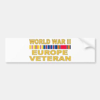 WWIIヨーロッパの退役軍人 バンパーステッカー