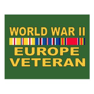 WWIIヨーロッパの退役軍人 ポストカード
