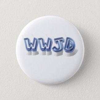 wwjd 5.7cm 丸型バッジ
