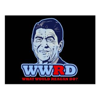 WWRD、レーガンは何をしますか。 ポストカード