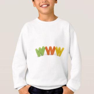 WWWのインターネット スウェットシャツ