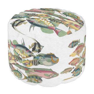 WWWの魚のオットマン プーフ