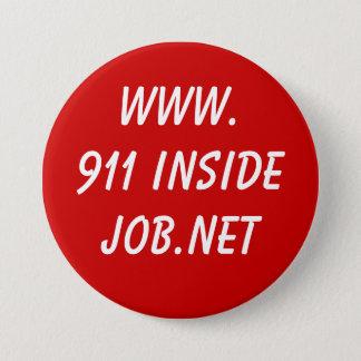 www.911 InsideJob.net 7.6cm 丸型バッジ