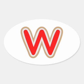 WWW ALPHAWのアルファベット 卵型シール