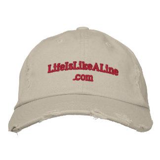 www.LifeIsLikeALineによって風化させる野球帽 刺繍入りキャップ