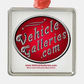 www.VehicleGalleries.comのクラシックなロゴ メタルオーナメント