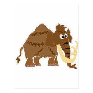WX-おもしろいなマンモスの原住民の芸術 ポストカード