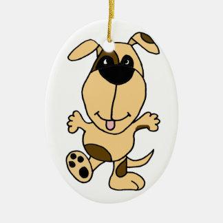 WX-踊りの小犬の漫画 セラミックオーナメント