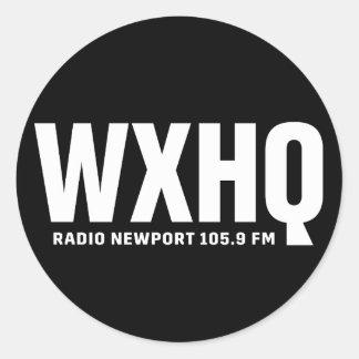 WXHQのステッカー ラウンドシール