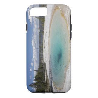 WYのイエローストーン国立公園、西の親指の間欠泉 iPhone 8/7ケース