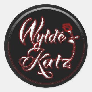 Wylde Katzバンド熱いRockinのステッカー ラウンドシール