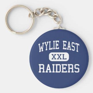 Wylieの東の-侵入者-高等学校- Wylieテキサス州 ベーシック丸型缶キーホルダー