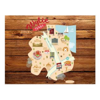Wylie素朴なテキサス州の郵便はがき ポストカード