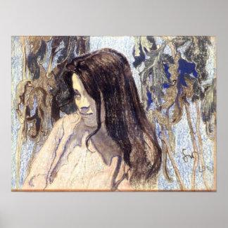 WyspianskiのEliza Parenska 1902年のポートレート ポスター