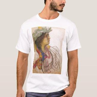 WyspianskiのWanda Siemaszkowa 1902年のポートレート Tシャツ