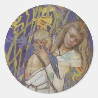 Wyspianski、Caritas (マドンナおよび子供)、1904年(1) ラウンドシール