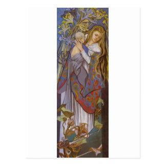 Wyspianski、Caritas (マドンナおよび子供)、1904年(2) ポストカード