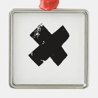 Xポケットは点を示します メタルオーナメント