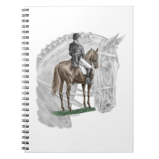 X停止挨拶の馬場馬術の馬 ノートブック