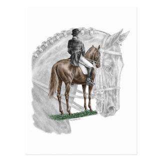 X停止挨拶の馬場馬術の馬 ポストカード