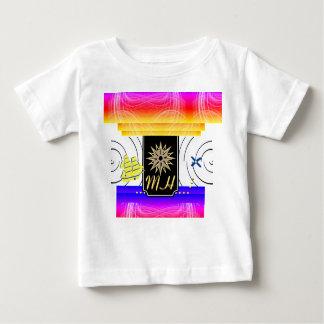 X印点のモノグラムのベビーのTシャツ ベビーTシャツ