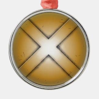 X大文字 メタルオーナメント