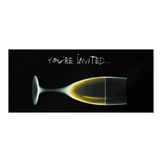 X線のお祝いのシャンペンのオリジナル + 否定的 10.2 X 23.5 インビテーションカード