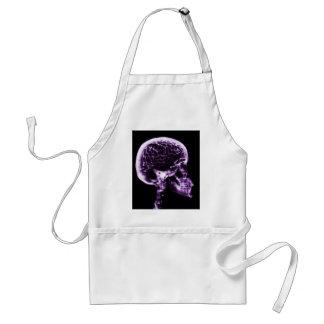 X線のスカルの頭脳-紫色 スタンダードエプロン