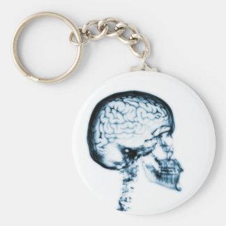 X線のスカルの頭脳-青 キーホルダー