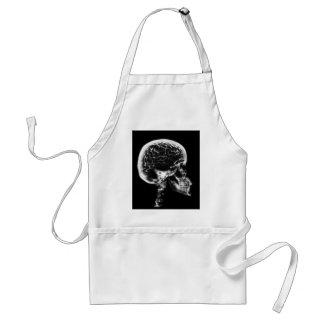 X線のスカルの頭脳-黒及び白 スタンダードエプロン