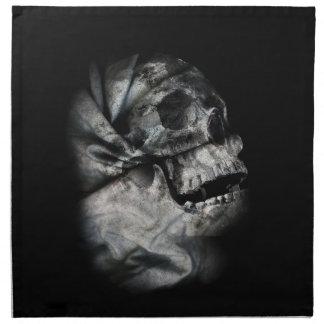 X線のスカルの頭部スキャン骨組 ナプキンクロス