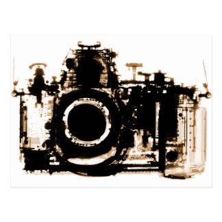 X線の視野のカメラの黒のセピア色 ポストカード