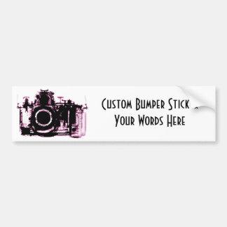 X線の視野のカメラの黒のピンク バンパーステッカー