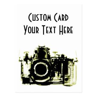 X線の視野のカメラの黒の黄色 ポストカード