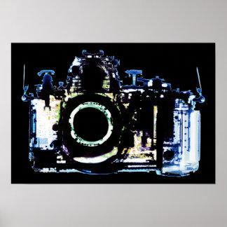 X線の視野のカメラ-元の青 ポスター