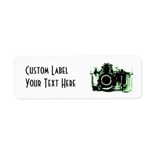 X線の視野のカメラ-緑 返信用宛名ラベル