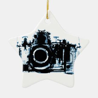 X線の視野のカメラ-青 セラミックオーナメント